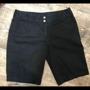 Michael Michael Kors black shorts w/gold accents